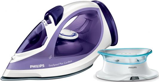 Утюг Philips EasySpeed GC2088/30 2400Вт фиолетовый белый парогенератор philips hi5912 30 белый фиолетовый 2400вт