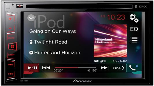 Автомагнитола Pioneer AVH-290BT 6.2 USB MP3 CD DVD FM 2DIN 4x50Вт черный fm тюнер pioneer f f6mk2