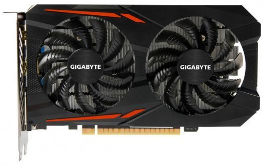 Видеокарта 2048Mb Gigabyte GeForce GTX1050 PCI-E 128bit GDDR5 DVI HDMI DP HDCP GV-N1050OC-2GD Retail