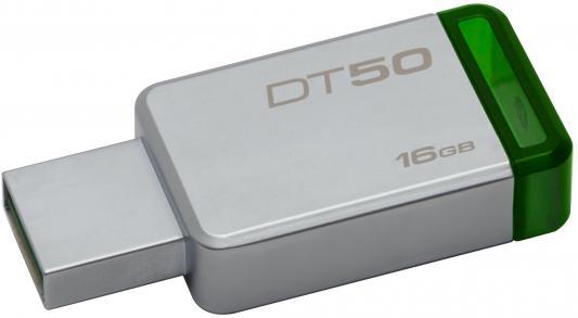 Флешка USB 16Gb Kingston DataTraveler 50 DT50/16GB зеленый usb flash drive 16gb kingston datatraveler 50 usb 3 1 dt50 16gb