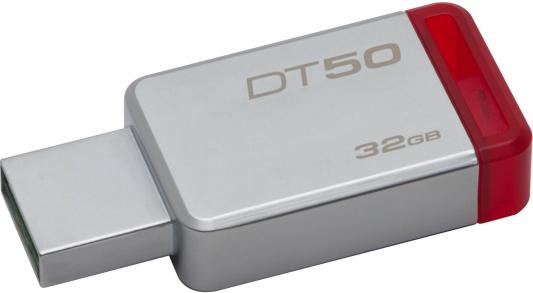 Флешка USB 32Gb Kingston DataTraveler 50 DT50/32GB красный 32 kingston datatraveler mini 3 0