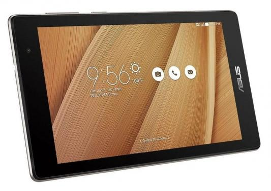 "Планшет Asus ZenPad C Z170CG-1L020A Atom x3-C3230-RK 4C/RAM1Gb/ROM16Gb 7"" IPS 1024x600/3G/Android 5.0/золотистый/2Mpix/0.3Mpix/BT/GPS/WiFi/Touch/microSDXC 64Gb/EDGE/minUSB/8hr"