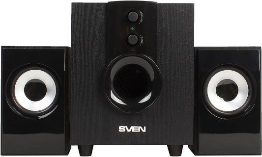 Колонки Sven MS-107 2х2.5Вт+5Вт черный колонки sven ms 90 2 1
