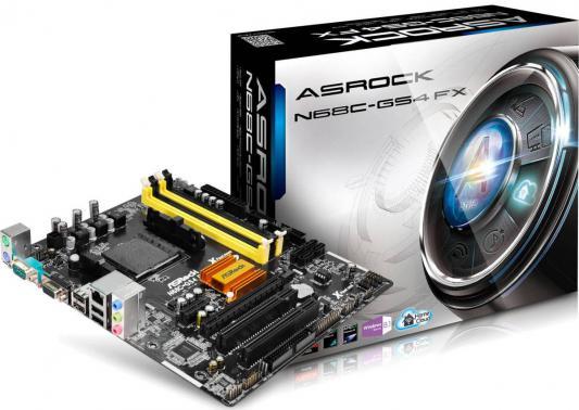 Мат. плата для ПК ASRock N68C-GS4 FX Socket AM3+ NVIDIA GeForce 702 2xDDR2 2xDDR3 1xPCI-E 16x 2xPCI 1xPCI-E 1x 4xSATAIII mATX Retail