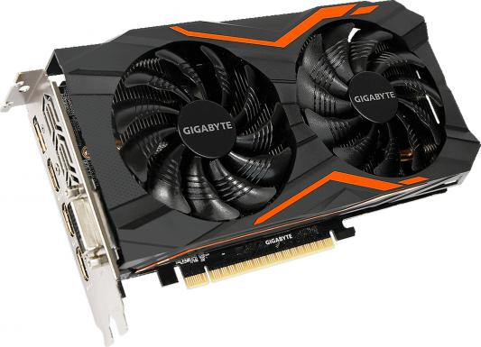 Видеокарта 2048Mb Gigabyte GeForce GTX1050 PCI-E 128bit GDDR5 DVI HDMI DP HDCP GV-N1050G1 GAMING-2GD Retail