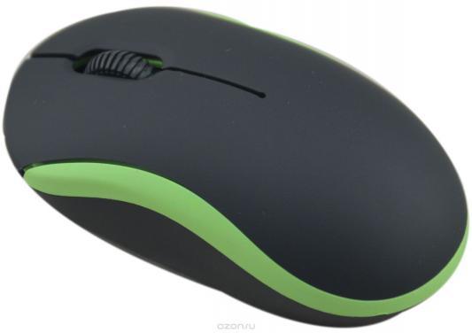 Мышь проводная Ritmix ROM-111 чёрный зелёный USB