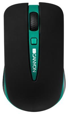 Мышь беспроводная Canyon CNS-CMSW6G чёрный зелёный USB + радиоканал