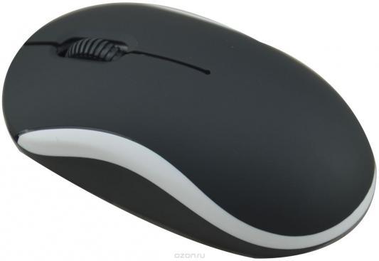 Мышь проводная Ritmix ROM-111 чёрный белый USB