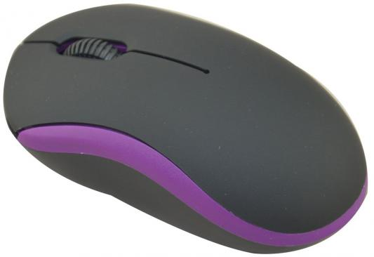 Мышь проводная Ritmix ROM-111 чёрный пурпурный USB