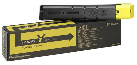 Картридж Kyocera TK-8705Y для Kyocera TASKalfa 6550ci/7550ci желтый 30000стр new original kyocera 302k994181 pwb feed 1 for ta4500i 5500i 6500i 8000i 4550ci 5550ci 6550ci 7550ci