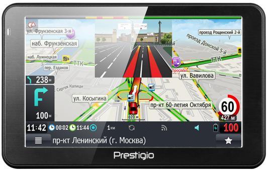 "Навигатор Prestigio GeoVision 5068 Навител 5"" 800х480 4GB 128MB microSD microSDHC черный"