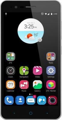 Смартфон ZTE Blade A510 8 Гб серый (BLADEA510GREY/SAPPHIRE) наушники bbk ep 1190s black проводные внутриканальные черный 20 гц 22 кгц 98 дб двухстороннее mini jack 3 5 мм