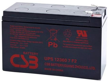 Батарея CSB UPS 123607 F2 аккумулятор csb gp12120 f2 12v12ah