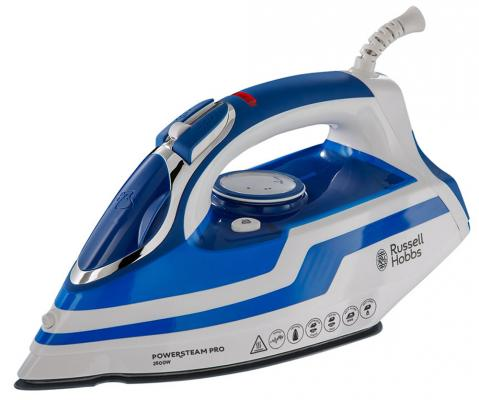 Утюг Russell Hobbs 20631-56 Power Steam Pro 2600Вт белый синий кухонный комбайн russell hobbs 19005 56 19005 56