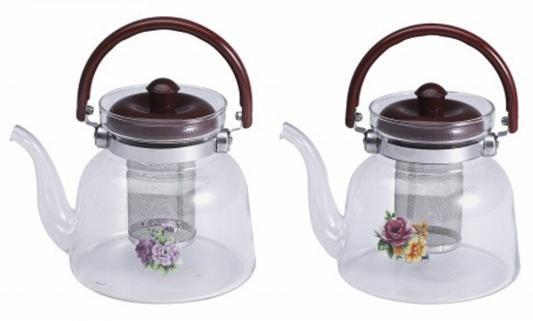 Чайник заварочный Wellberg WB-6853 прозрачный 1.4 л стекло 2 дизайна