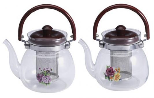 Чайник заварочный Wellberg WB-6851 прозрачный 0.8 л стекло 2 дизайна