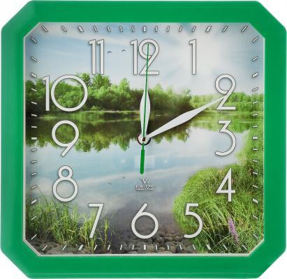 Часы настенные Вега Пейзаж П4-3/7-82 зелёный часы вега п4 14 7 86 новогодние подарки разноцветный