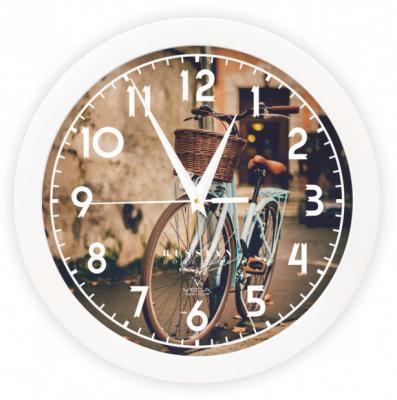 Часы настенные Вега П1-7/7-253 Ретро велосипед рисунок