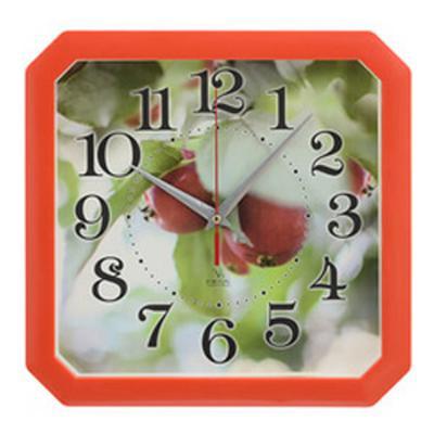 Часы настенные Вега П4-1/7-83 Ранетки красный рисунок