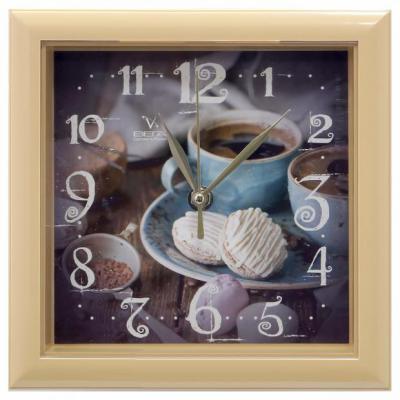 Часы настенные Вега П3-14-131 Чашка кофе коричневый кронштейн kromax vega 50 белый