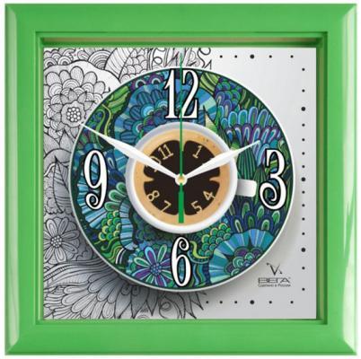Часы настенные Вега П3-3-122 зелёный разноцветный
