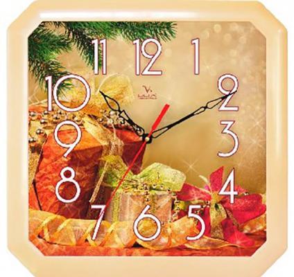 Часы Вега П4-14/7-86 Новогодние подарки разноцветный часы настенные вега п 4 14 7 86 новогодние подарки