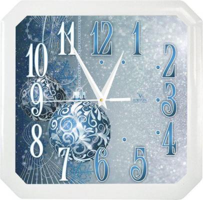 Часы настенные Вега П4-7/7-85 Синие шары белый синий