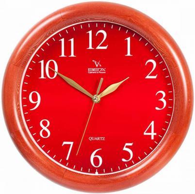 Часы настенные Вега Д1КД/7-55 красный