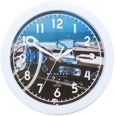 Часы настенные Вега П1-7/7-296 Белый руль белый mt8071ip weinview 7 inch hmi touch screen panel 800 480 ethernet