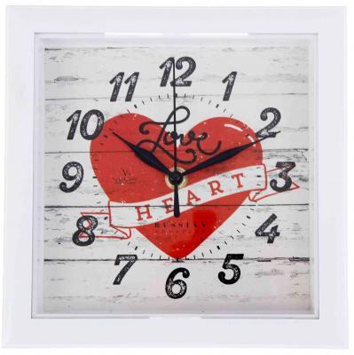 Часы настенные Вега П3-7-124 Сердце белый кронштейн kromax vega 50 белый