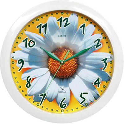 Часы настенные Вега П1-7/7-5 белый рисунок