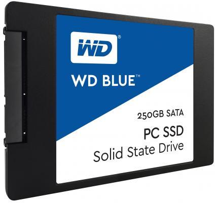 Твердотельный накопитель SSD 2.5 250Gb Western Digital Blue Read 540Mb/s Write 500Mb/s SATAIII WDS250G1B0A твердотельный накопитель ssd m 2 64gb transcend mts600 read 560mb s write 310mb s sataiii ts64gmts600