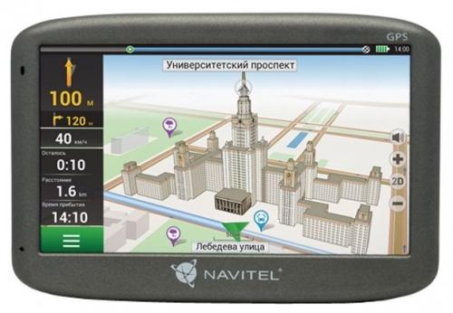 """Навигатор Navitel N500 5"""" 480x272 4GB 128MB microSD черный навигатор prology imap 4500 навител 4 3 480x272 microsd черный"""