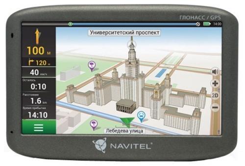 Навигатор Navitel G500 5 480x272 4GB 128MB microSD черный + GLONASS gps навигатор navitel n500 5 авто 4гб navitel серый