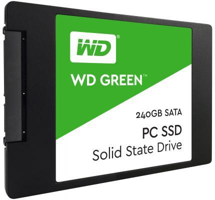 Твердотельный накопитель SSD 2.5 240Gb Western Digital Green Read 540Mb/s Write 430Mb/s SATAIII WDS240G1G0A твердотельный накопитель ssd 2 5 240gb western digital green read 540mb s write 430mb s sataiii wds240g1g0a
