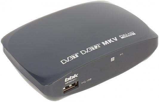 цена на Тюнер цифровой DVB-T2 BBK SMP002HDT2 серый