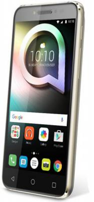 "Смартфон Alcatel Shine lite 5080x золотистый 5"" 16 Гб Wi-Fi LTE GPS 3G"