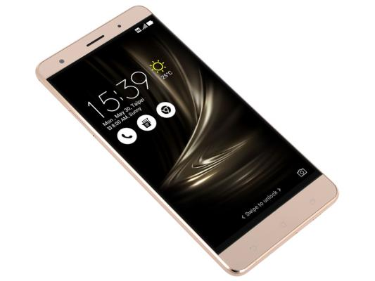 Смартфон ASUS ZenFone 3 Deluxe ZS570KL золотистый 5.7 64 Гб NFC LTE Wi-Fi GPS 3G 90AZ0161-M00110 zenfone 2 deluxe special edition