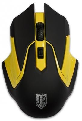 лучшая цена Мышь беспроводная Jet.A Comfort OM-U57G жёлтый чёрный USB