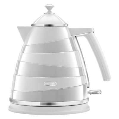 Чайник DeLonghi KBA2001.W 2000 Вт белый 1.7 л пластик  чайник delonghi kbz 2001 белый