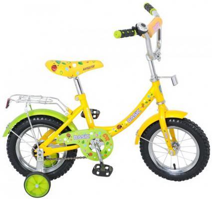 """Велосипед Navigator Basic 12"""" желто-зеленой"""