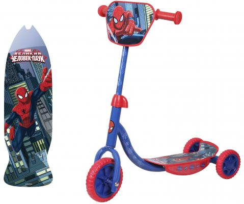 "Самокат 1TOY Marvel ""Spider-Man"" 6""/4"" синий"