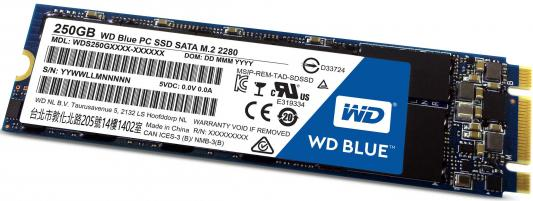 SSD Твердотельный накопитель M.2 250Gb Western Digital Read 540Mb/s Write 500Mb/s SATA WDS250G1B0B