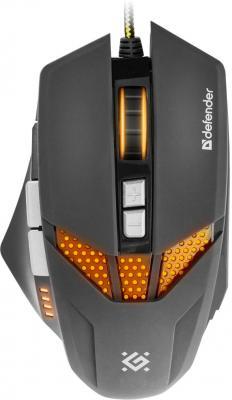 Мышь проводная DEFENDER Warhead GM-1780 чёрный USB 52780