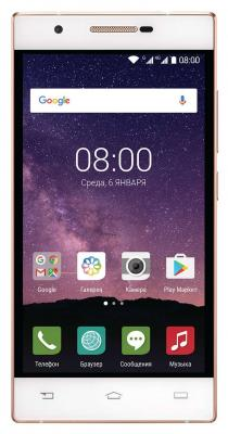 Смартфон Philips Xenium X586 белый шампань 5 16 Гб LTE Wi-Fi GPS 3G смартфон micromax q334 canvas magnus черный 5 4 гб wi fi gps 3g