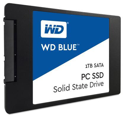Твердотельный накопитель SSD 2.5 1Tb Western Digital Blue Read 545Mb/s Write 525Mb/s SATAIII WDS100T1B0A твердотельный накопитель ssd m 2 64gb transcend mts600 read 560mb s write 310mb s sataiii ts64gmts600