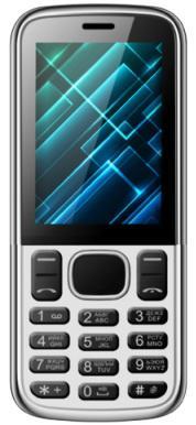 """Мобильный телефон Vertex D510 серебристый черный 2.4"""""""