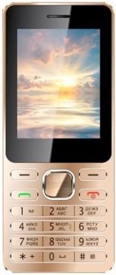 """Мобильный телефон Vertex D508 золотистый 2.4"""" D508GMET"""
