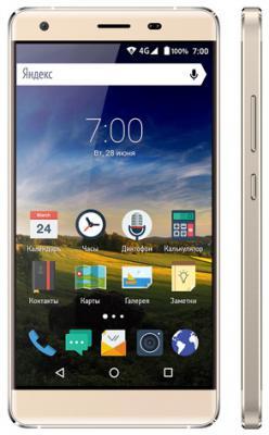"""Мобильный телефон Vertex Impress XL золотистый 5"""" 8 Гб LTE Wi-Fi GPS 3G"""