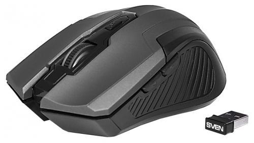 Картинка для Мышь беспроводная Sven RX-355 чёрный USB